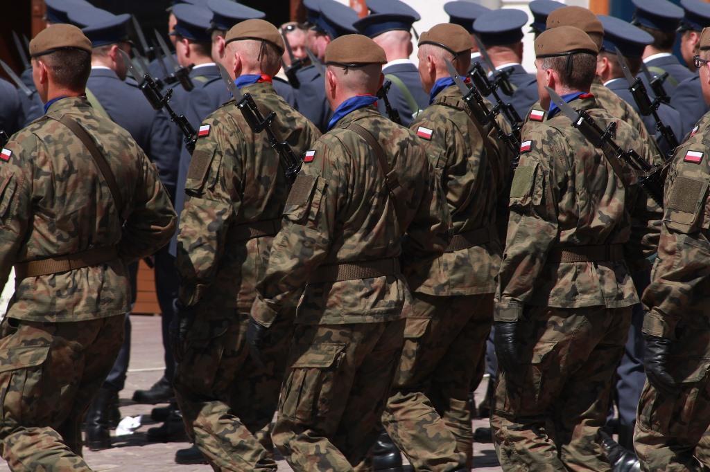 Żołnierze polscy na defiladzie