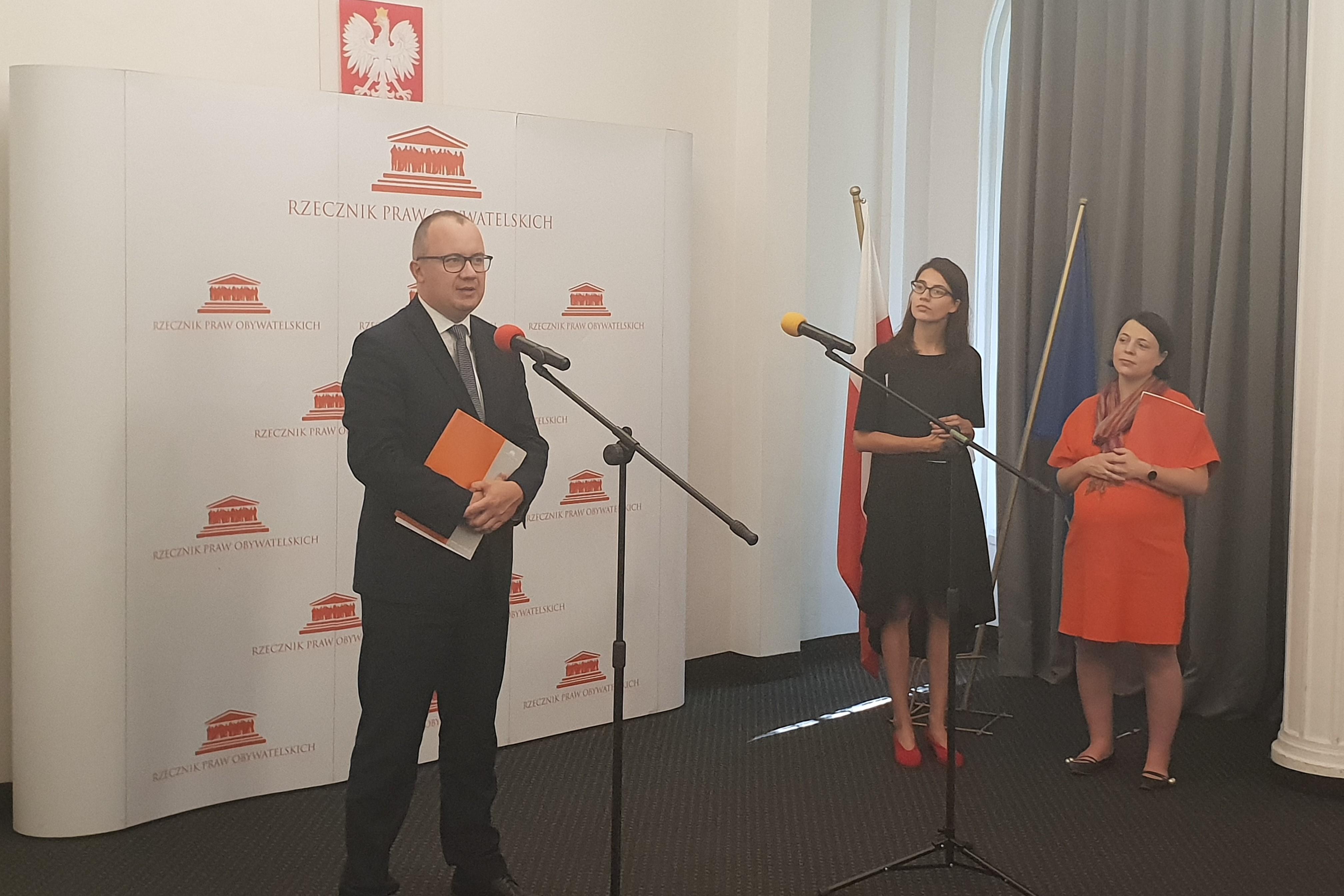 Briefing prasowy z udziałem RPO Adama Bodnara i ekspertek z Zespołu ds. Równego Traktowania