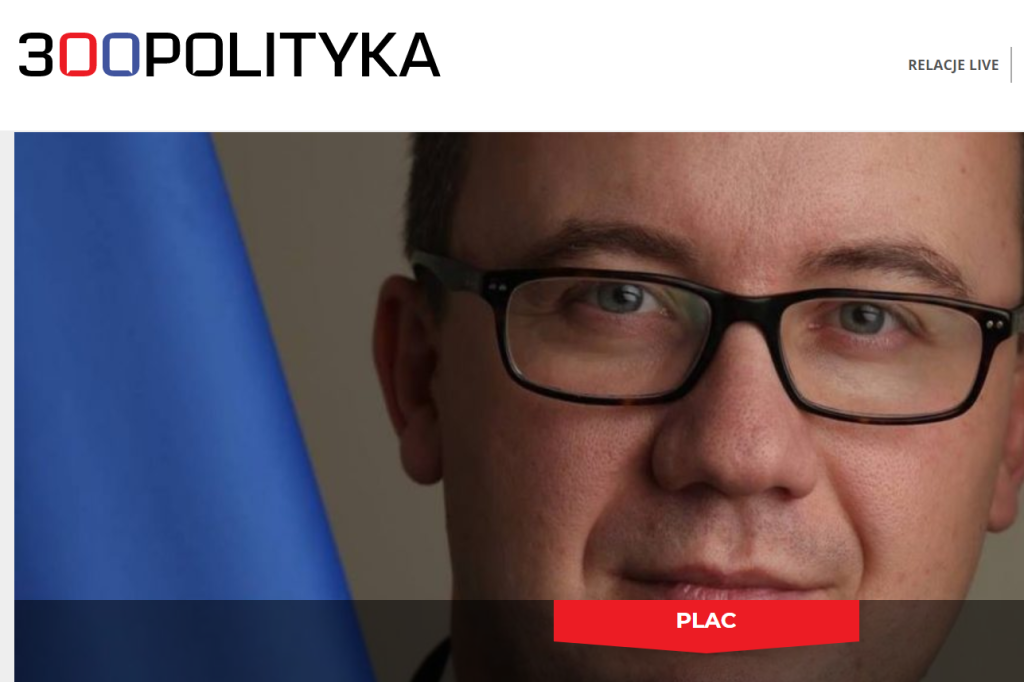 Screen: zdjęcie Adama Bodnara w serwisie 300polityka