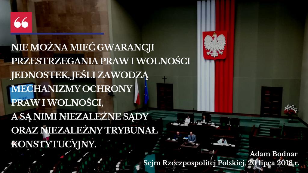 Mem na zdjęciu Sejmu, w którym 20 lipca przemawia RPO Adam Bodnar