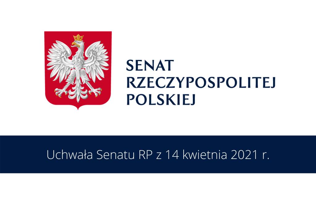 plansza z logo Senatu RP i datą podjęcia uchwały