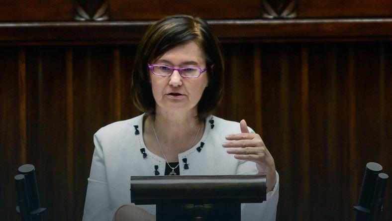 na zdjęciu prof. Irena Lipowicz w Sejmie / foto: Jakub Kamiński /  PAP