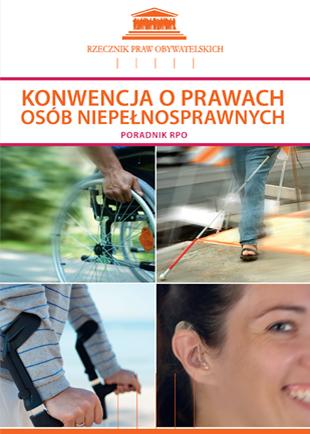 Okładka z czterema zdjęciami  pokazujących niepełnosprawność