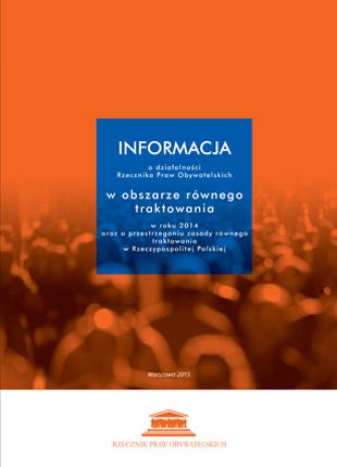 Pomarańczowa okładka z tytułem w niebieskim kwadracie