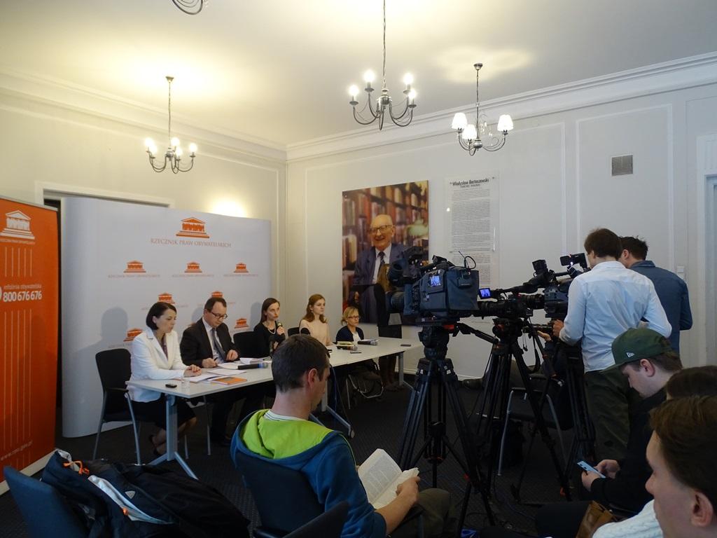 Na zdjęciu uczestnicy konferencji prasowej