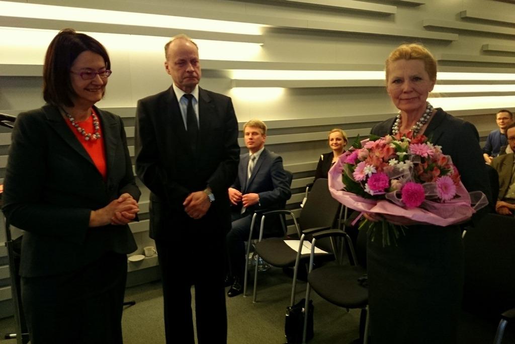 na zdjęciu prof. Irena Lipowicz, dyr. Marek Łukaszuk z Biura RPO i Ewa Kochanowska