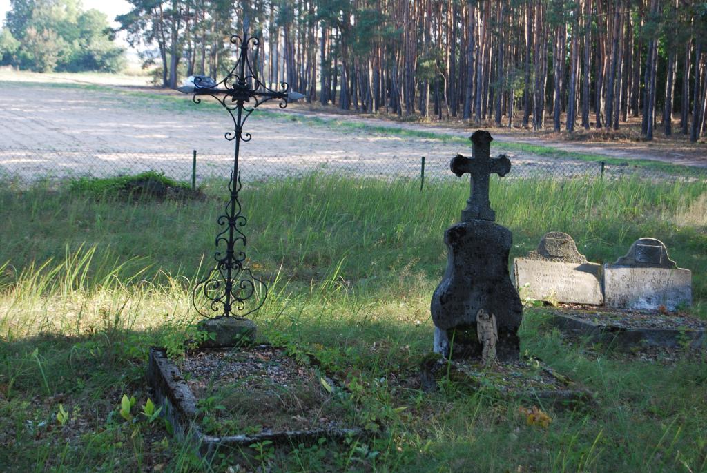 zaniedbany cmentarz
