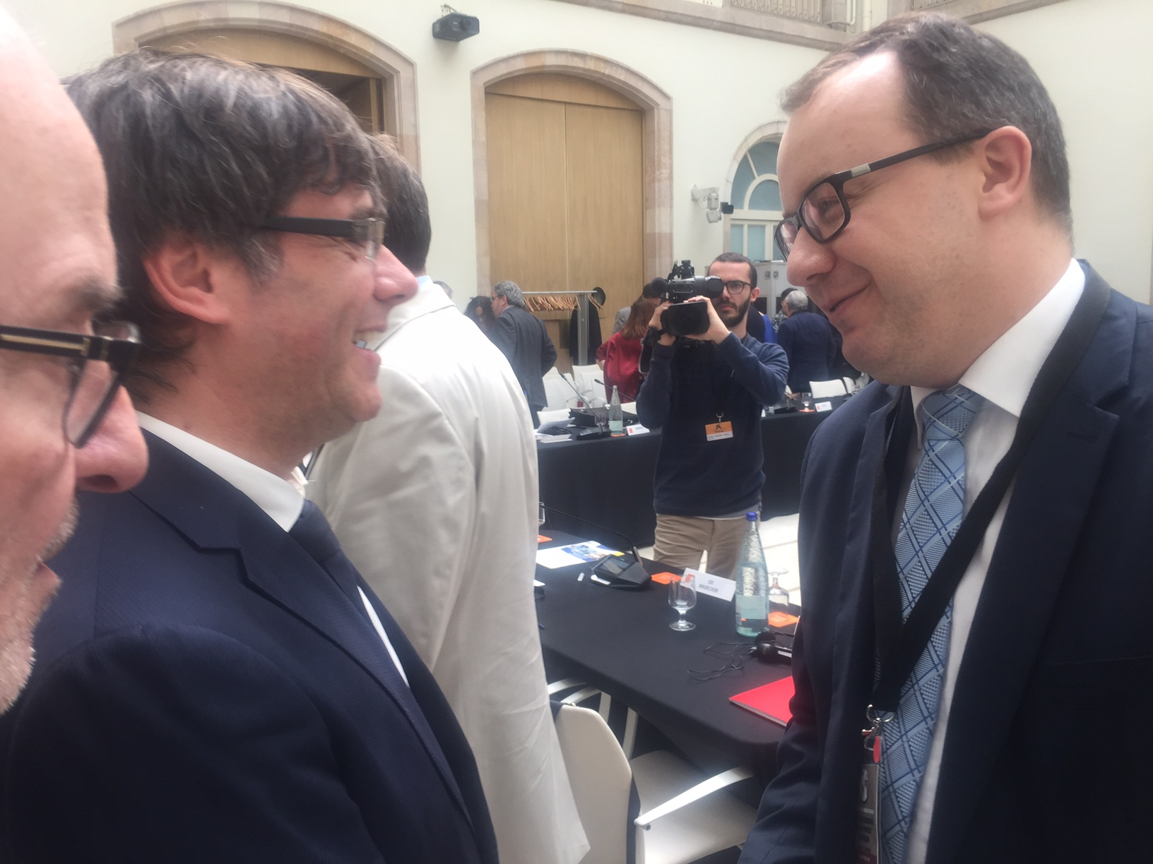 Adam Bodnar and President of Catalonia Carles Puigdemont