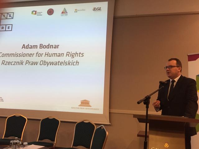Adam Bodnar podczas konferencji