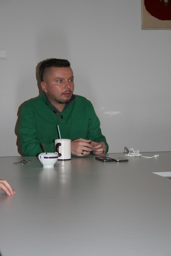 na zdjęciu Bartłomiej Skrzyński