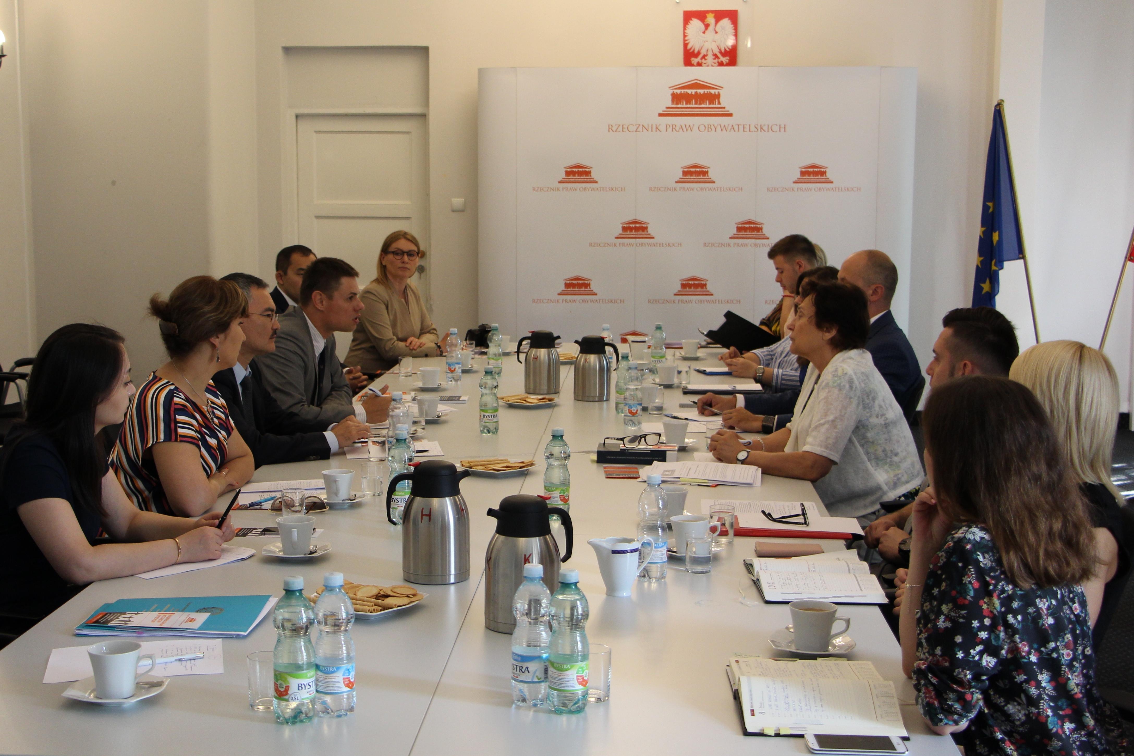 Spotkanie z przedstawicielami Krajowego Centrum Praw Człowieka w Kazachstanie