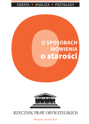 Pomarańczowy znak O i tytuł