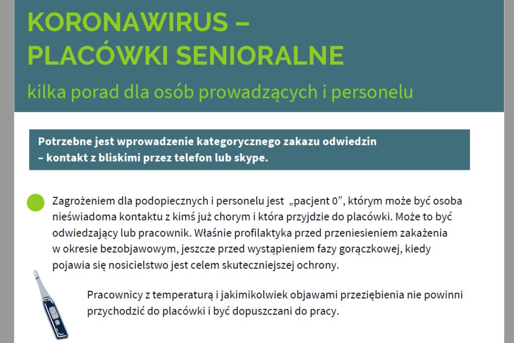 Screen strony internetowej z zielonym tytułem