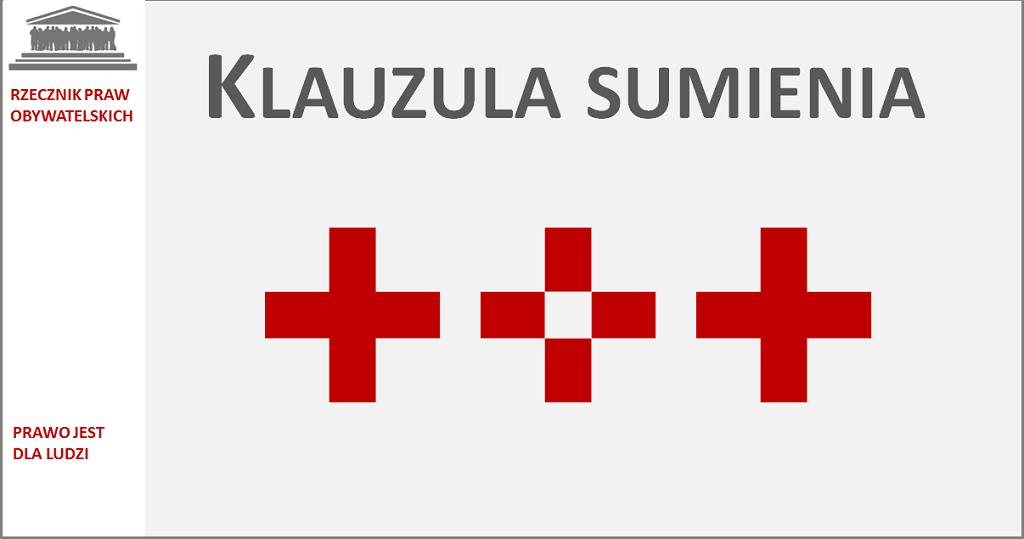 Grafika: trzy czerwone krzyże, jeden pusty w środku