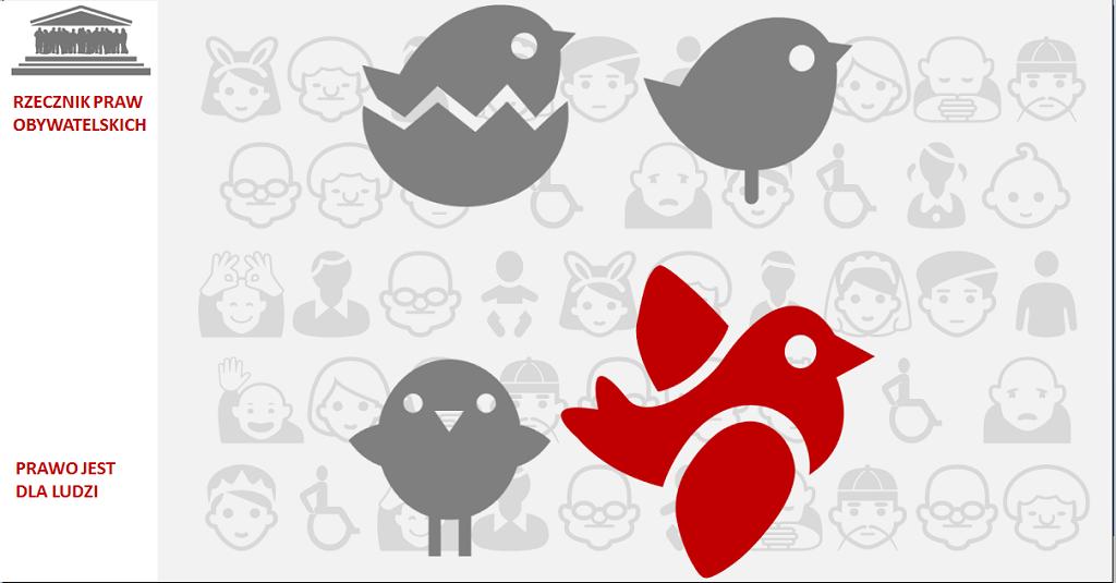 Grafika: cztery małe ptaszki