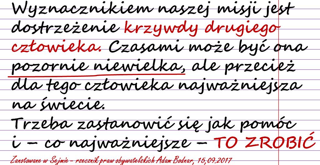 Napis na papierze w linie