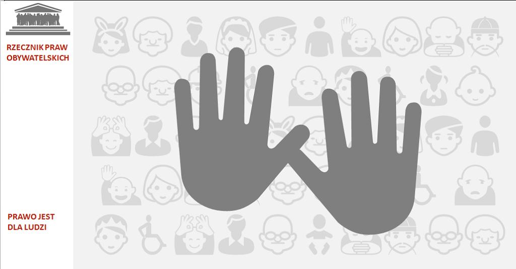 Grafika - dwie dłonie