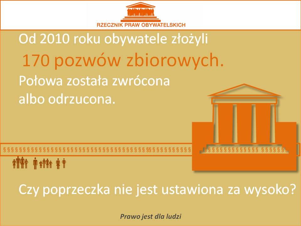 Grafika: na żółtym tle pomarańczowy rysunek sądu