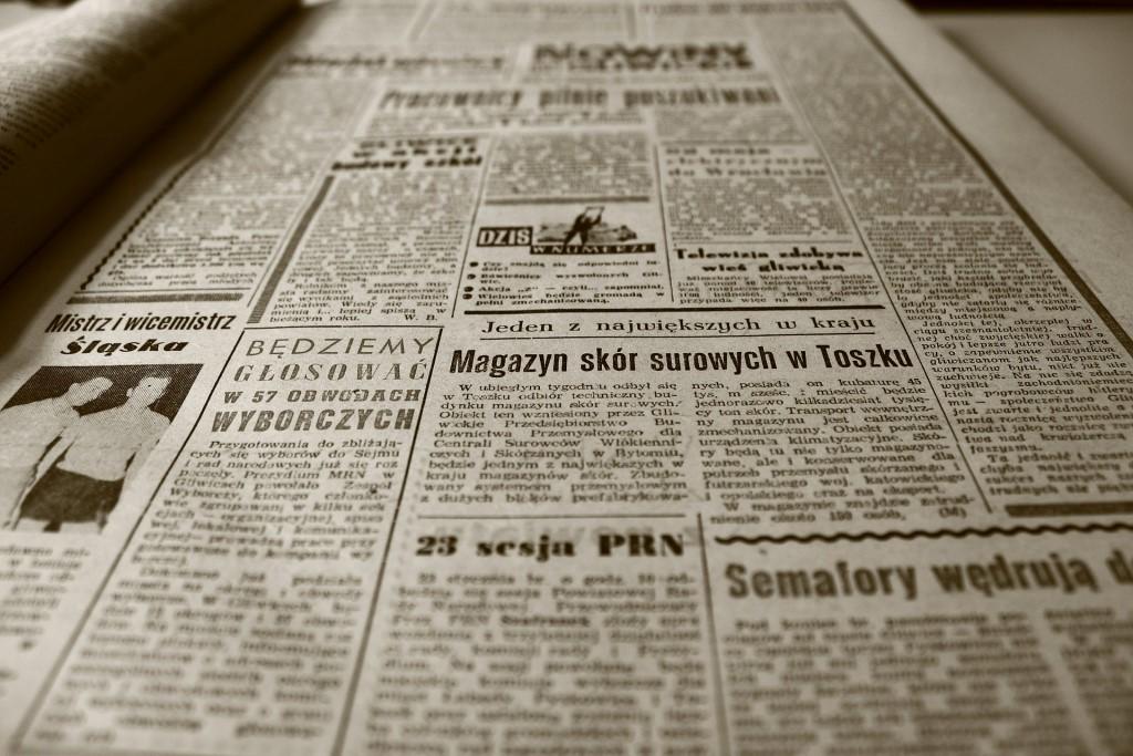 Zadrukowana strona gazety