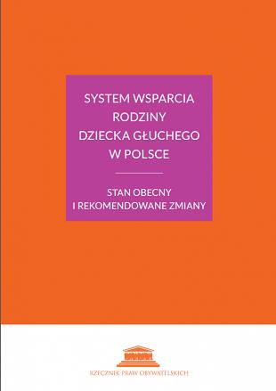 Okładka książki: tytuł na pomarańczowym tle w fioletowym kwadracie