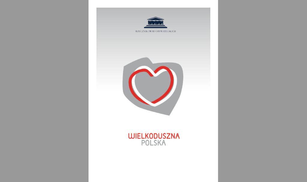 Okładka publikacji z sercem wpisanym w kontur Polski