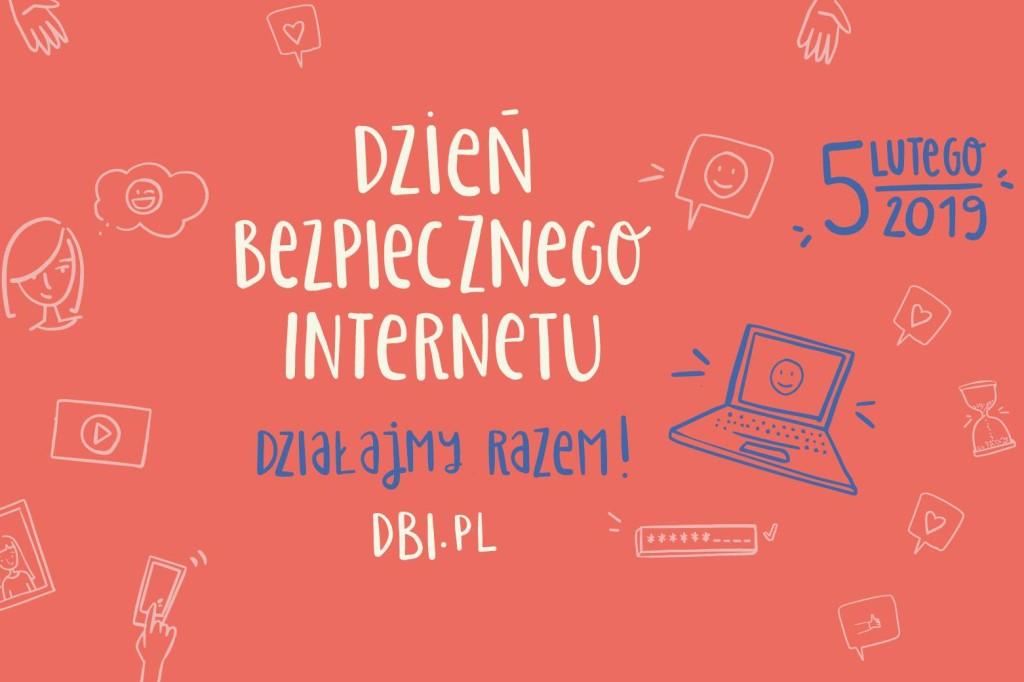 grafika z napisem: Dzień Bezpiecznego Internetu