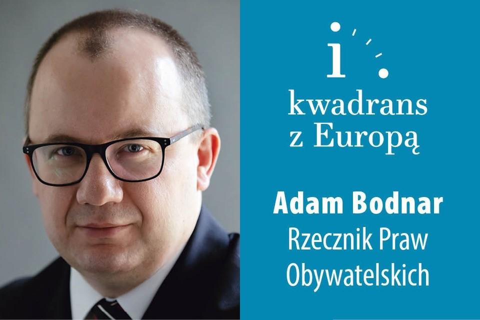 Plakat webinarium ze zdjęciem Adama Bodnara