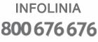 Na obrazku napis INFOLINIA z numerem telefonu 800 676 676. Link prowadzi do informacji o infolinii.