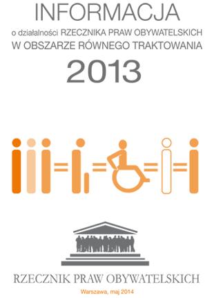 Biała okładka z pomarańczowymi symbolami osób z niepełnosprawnościami