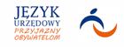 Logo strony Język urzędowy. Na obrazku jest napis Język Urzędowy PRZYJAZNY OBYWATELOM. Link prowadzi zewnętrznej strony www.jezykurzedowy.pl .