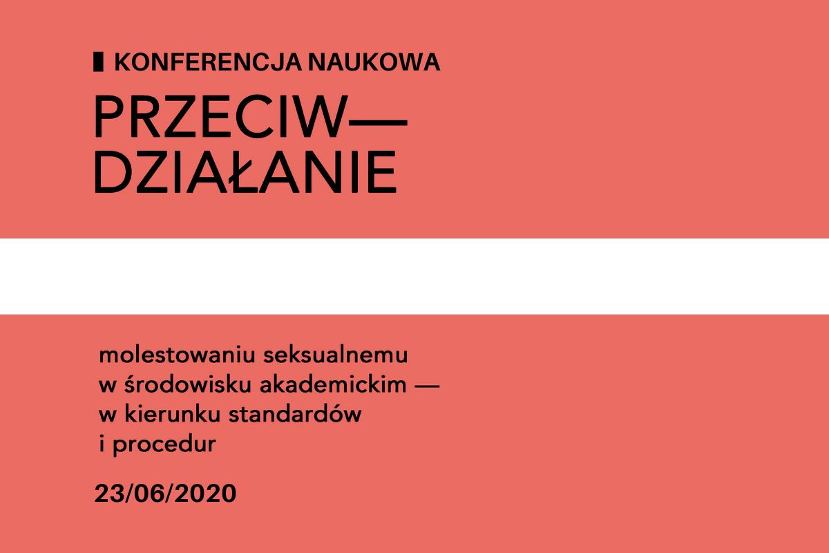 Łososiowy plakat z tytułem konferencji