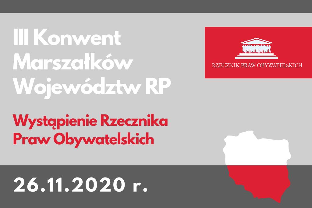 Szara plansza z tytułem wydarzenia i mapką Polski w kolorze biało - czerwonym