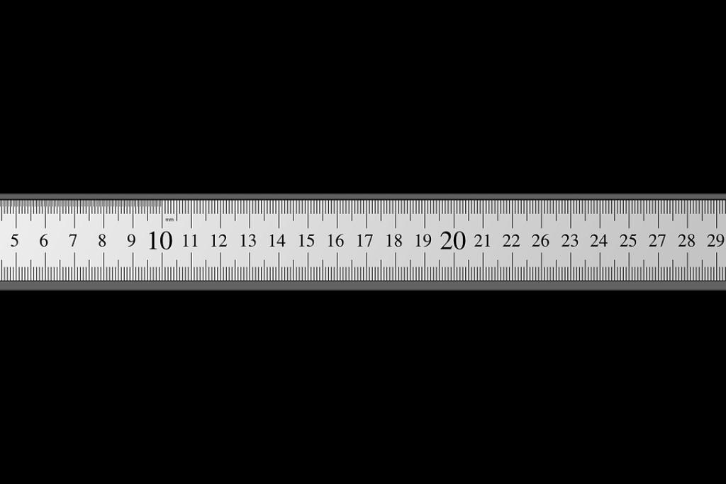 Linijka do odmierzania centymetrów