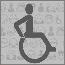 Logo osób z niepełnosprawościami