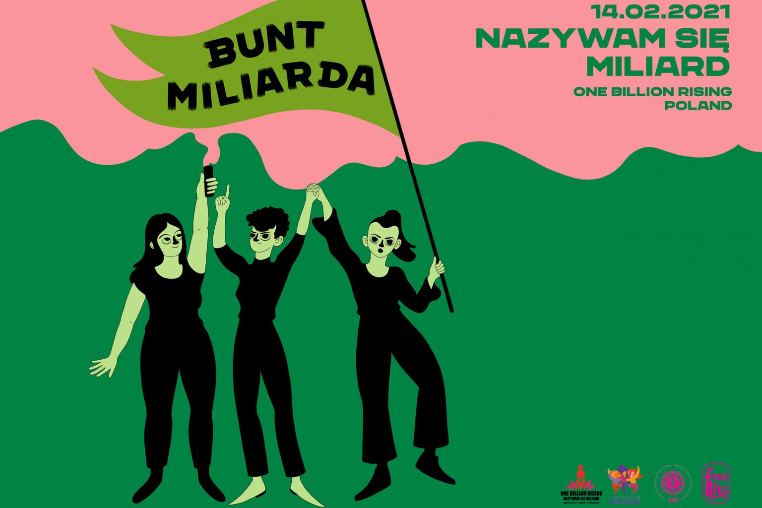 plakat wydarzenie z tańczącymi sylwetkami