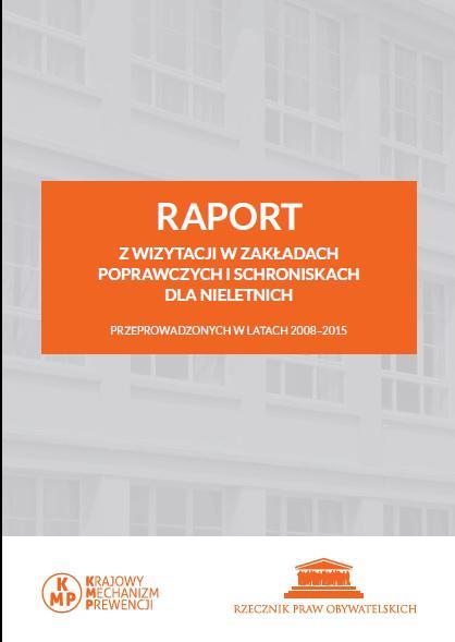 grafika: na szarym tle tle pomarańczowy prostokąt z tytułem raportu