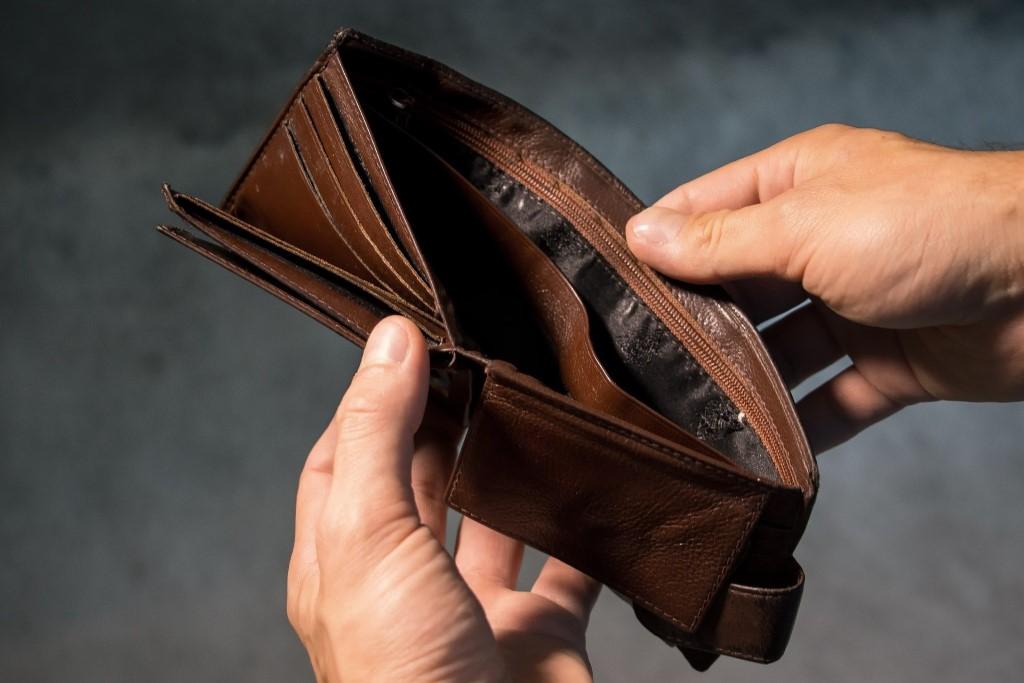 Pusty portfel - portmonetka