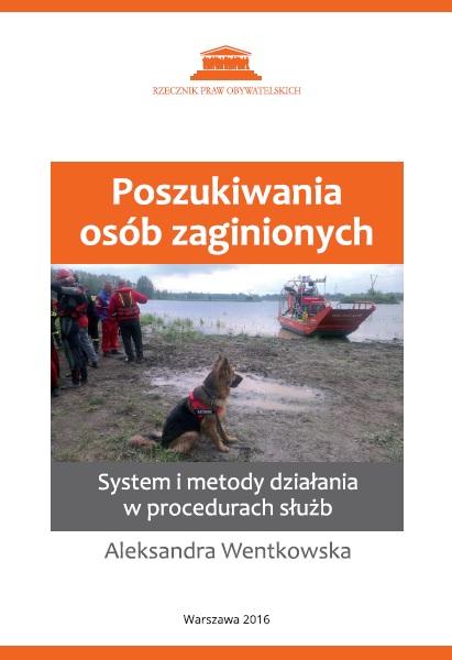 zdjęcie: na okładce książki siedzi owczarek niemiecki w tle widać ponton ratowniczy