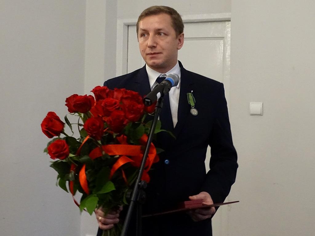 na zdjęciu laureat Jacek Jastrzębski