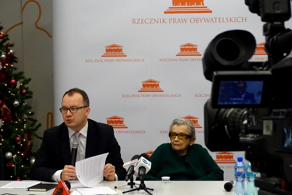 na zdjęciu dr Adam Bodnar i Halina Bortnowska