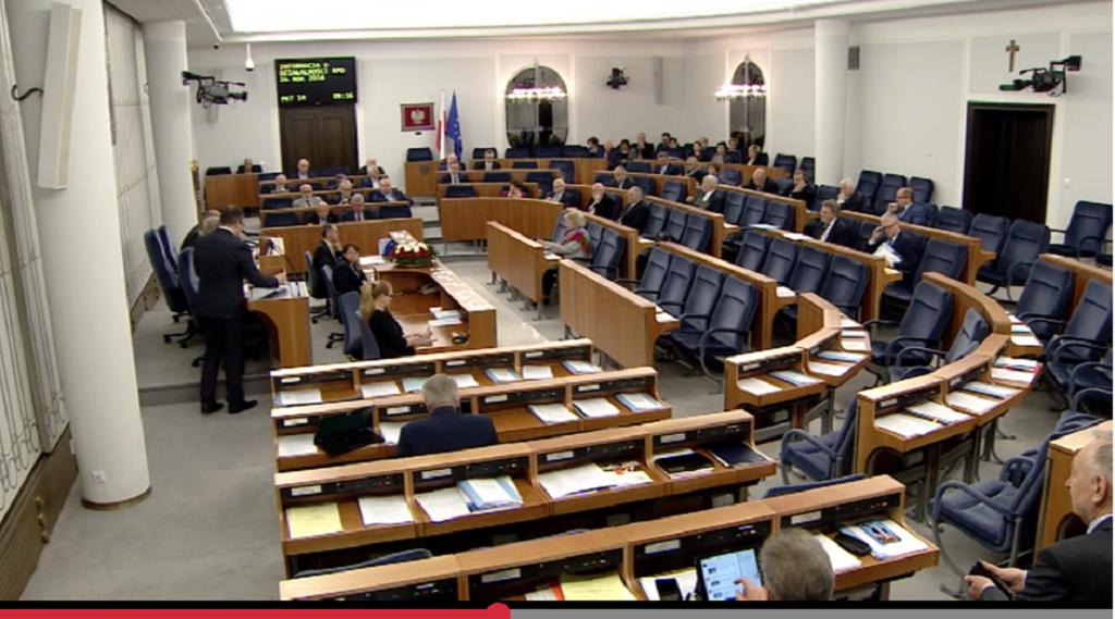 Sala senacka w czasie obrad plenarnych