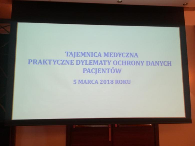 """Konferencja """"Tajemnica medyczna. Praktyczne dylematy ochrony danych pacjentów"""""""