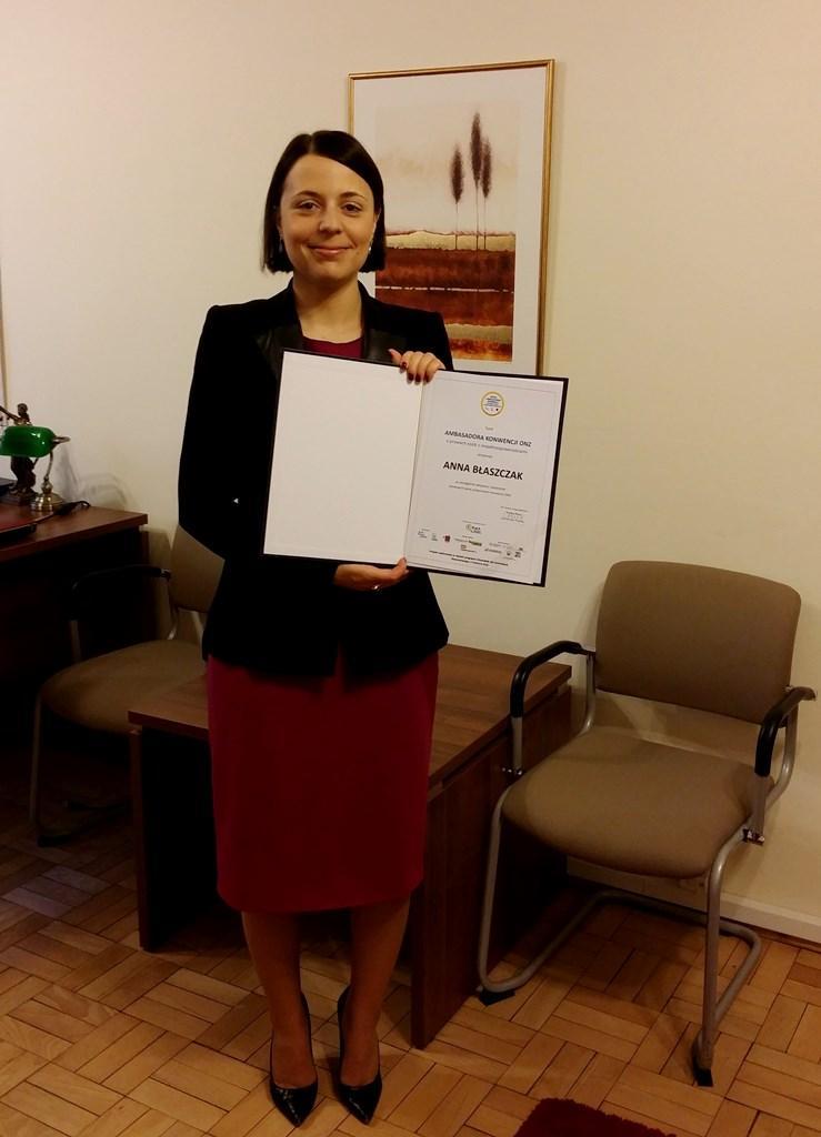 Na zdjęciu Dyrektor Anna Błaszczak