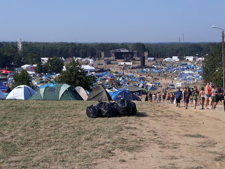 Widok ogólny miejsca festiwalu