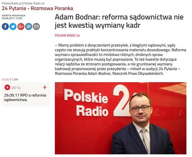 grafika: fragment stroni internetowej Polskiego Radia