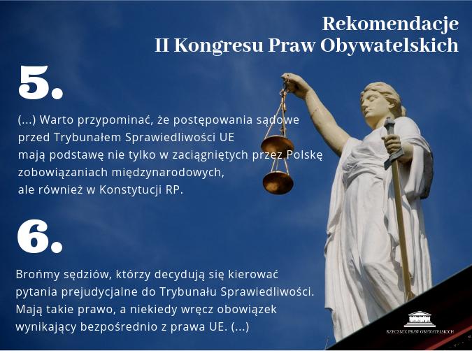 mem przedstawiający Temidę i tekst 5 i 6 rekomendacji KPO II