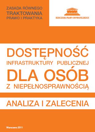 Biało-pomarańczowa okładka z napisami
