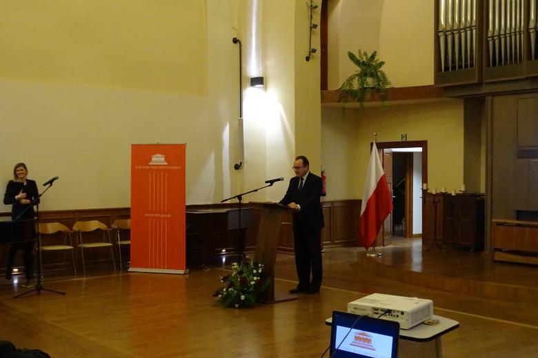 Uroczystość wręczenia Markowi Wysockiemu Nagrody RPO im. dr. Macieja Lisa