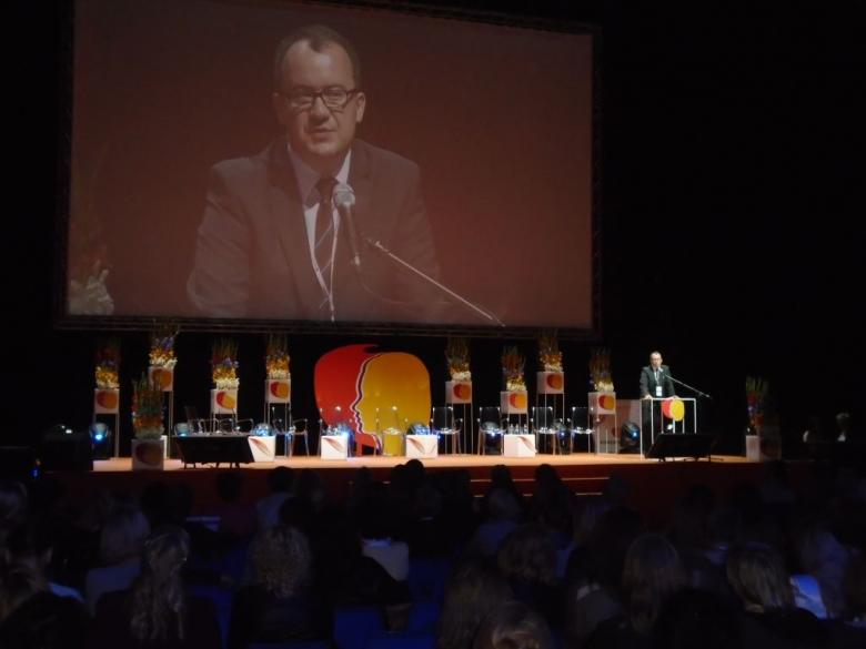 Na zdjęciu przemówienie RPO dr. Adama Bodnara podczas VII Kongresu Kobiet