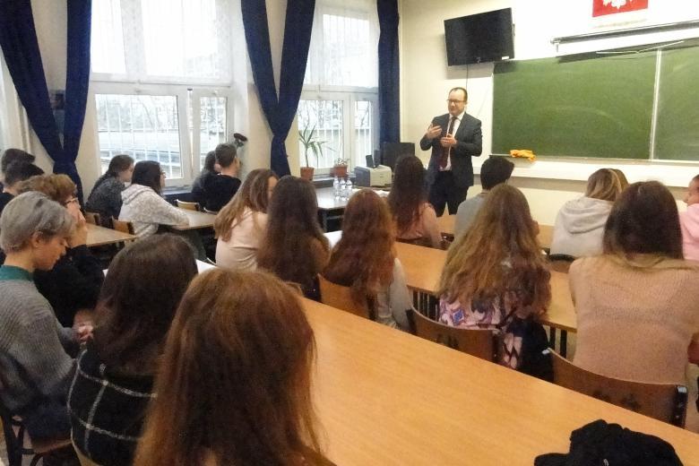 Adam Bodnar w XLII Liceum Ogólnokształcącym im. Marii Konopnickiej